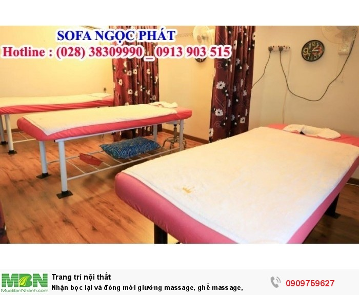 Đóng mới giường massage, ghế massage. Giường massage. Ngọc Phát Hcm.5