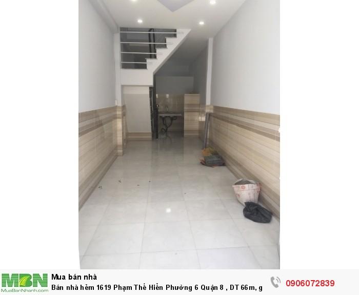 Bán nhà hẻm 1619 Phạm Thế Hiển Phường 6 Quận 8 , DT 66m