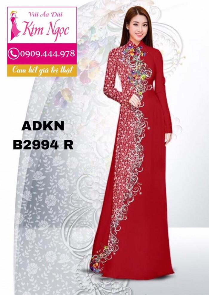 Vải áo dài in 3D B29947
