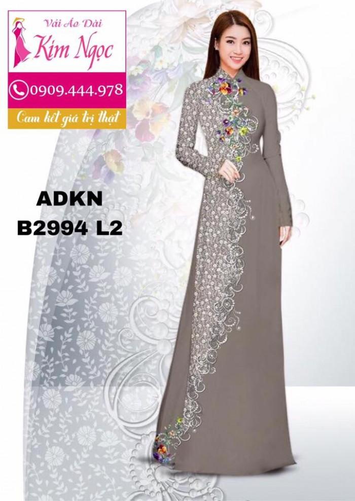 Vải áo dài in 3D B29945
