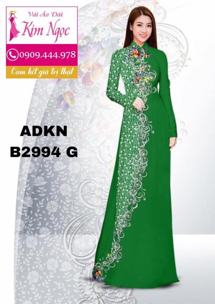 Vải áo dài in 3D B29942