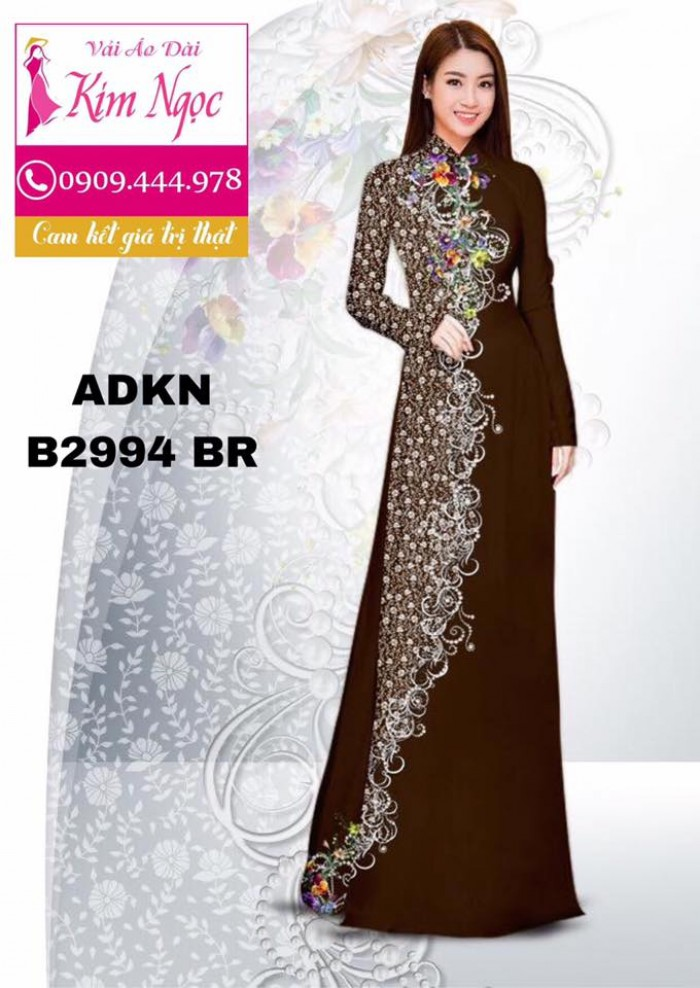 Vải áo dài in 3D B29940