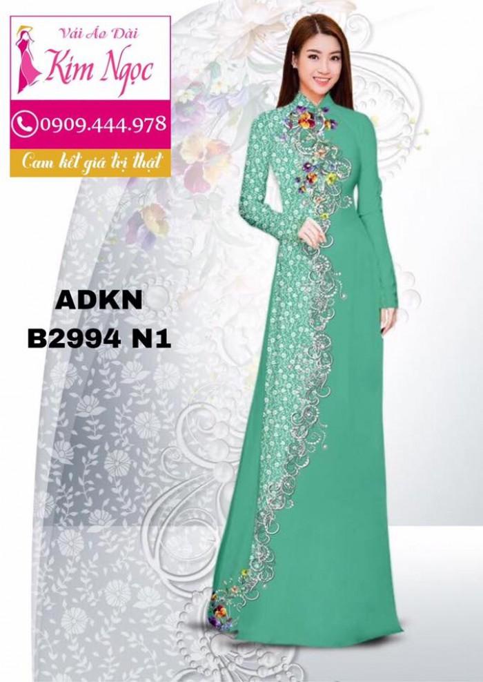 Vải áo dài in 3D B29943