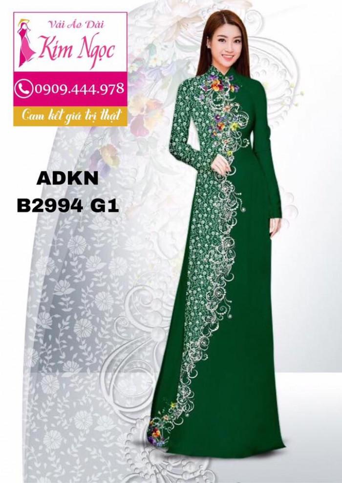 Vải áo dài in 3D B29944
