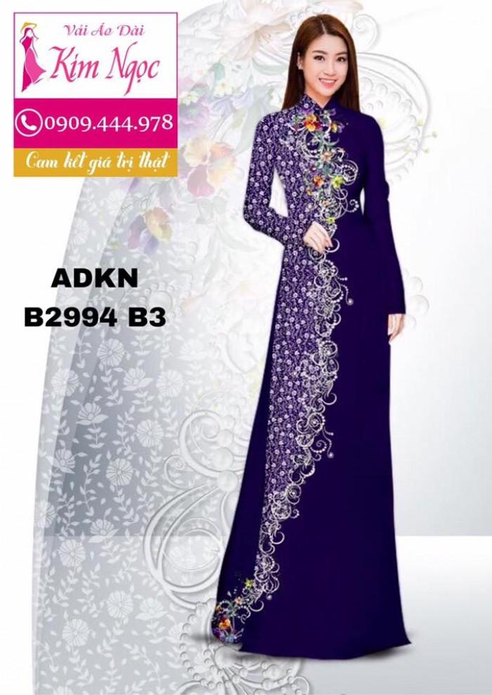 Vải áo dài in 3D B299411