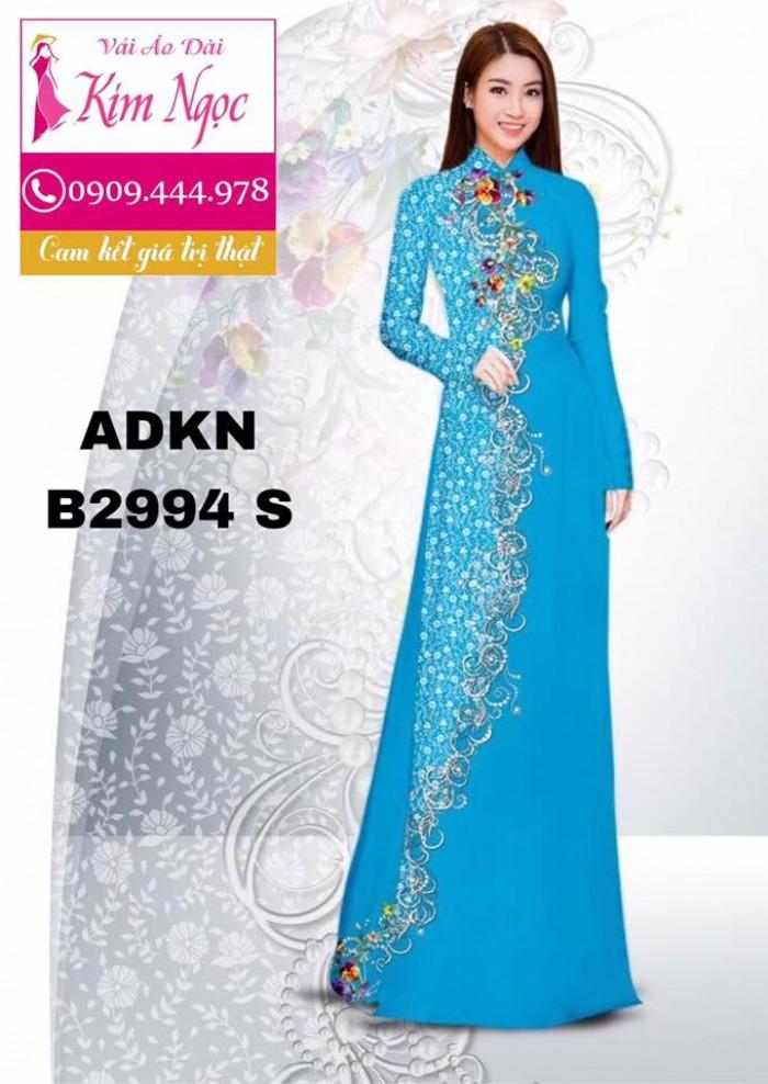 Vải áo dài in 3D B29941