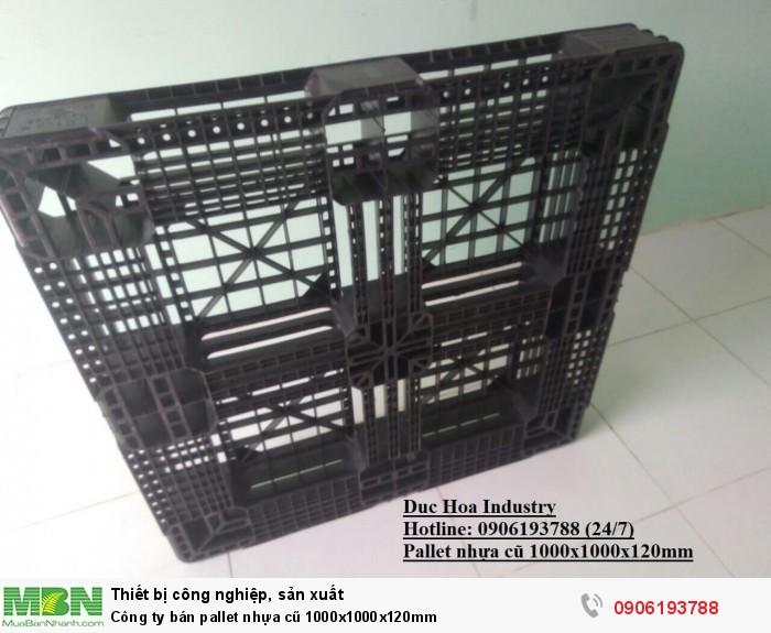Công ty bán pallet nhựa cũ 1000x1000x120mm