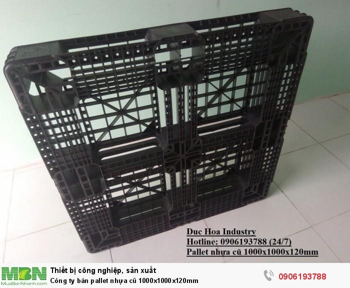 Công ty bán pallet nhựa cũ 1000x1000x120mm - Hotline: 0906193788 (24/24) - Giao hàng toàn quốc