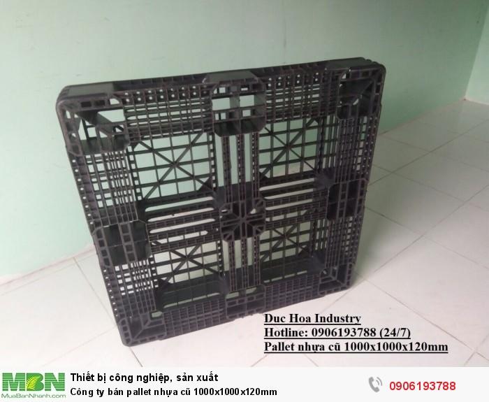 Công ty bán pallet nhựa cũ 1000x1000x120mm - Hotline: 0906193788 (24/24)