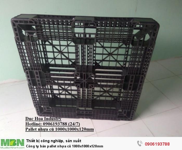 Pallet nhựa cũ 1000x1000x120mm - Hotline: 0906193788 (24/24)