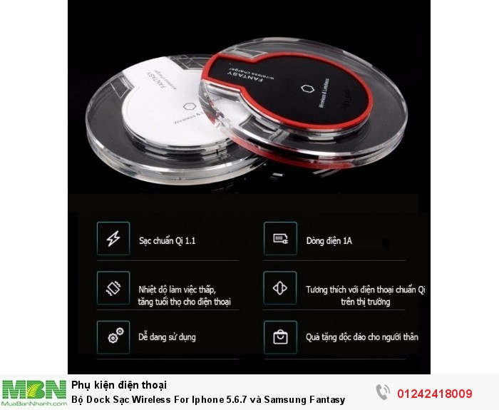 Bộ Dock Sạc Wireless For Iphone 5.6.7 và Samsung Fantasy0