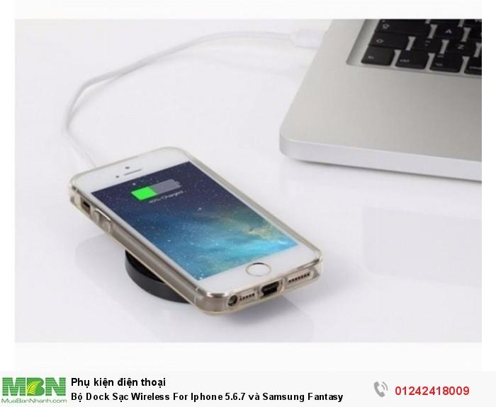 Bộ Dock Sạc Wireless For Iphone 5.6.7 và Samsung Fantasy4