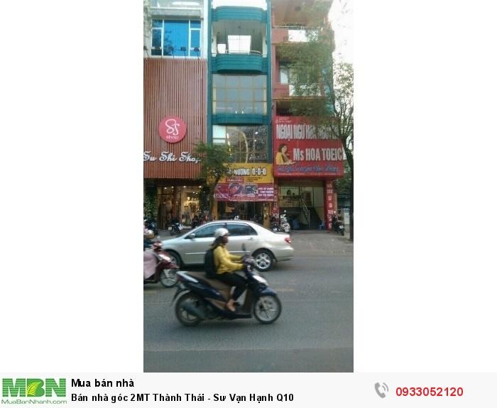 Bán nhà góc 2MT Thành Thái - Sư Vạn Hạnh Q10