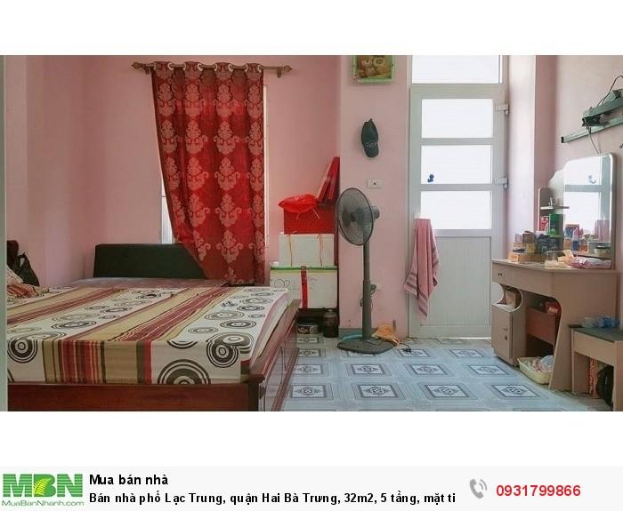 Bán nhà phố Lạc Trung, quận Hai Bà Trưng, 32m2, 5 tầng, mặt tiền 4,2m, ô tô