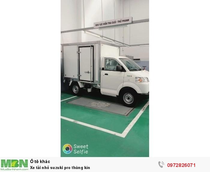 Xe tải nhỏ suzuki pro thùng kín