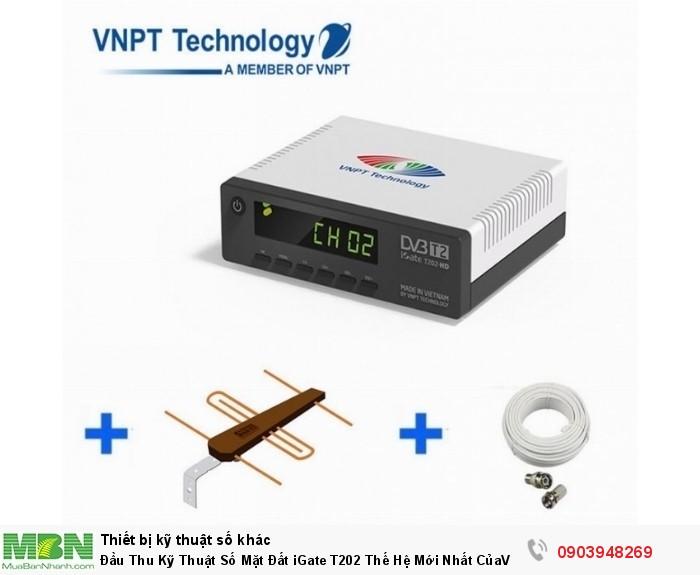 Đầu thu kỹ thuật số DVB T2 VNPT iGate T202 HD bán tại ĐIện Máy Hải số 41 Lê văn Ninh, P Linh Tây, Chợ Thủ Đức giá chỉ có 690K/ bộ, khuyến mãi theo dây cable và anten