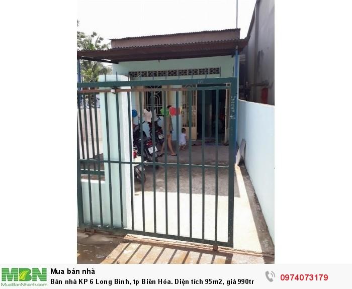Bán nhà KP 6 Long Bình, tp Biên Hòa. Diện tích 95m2