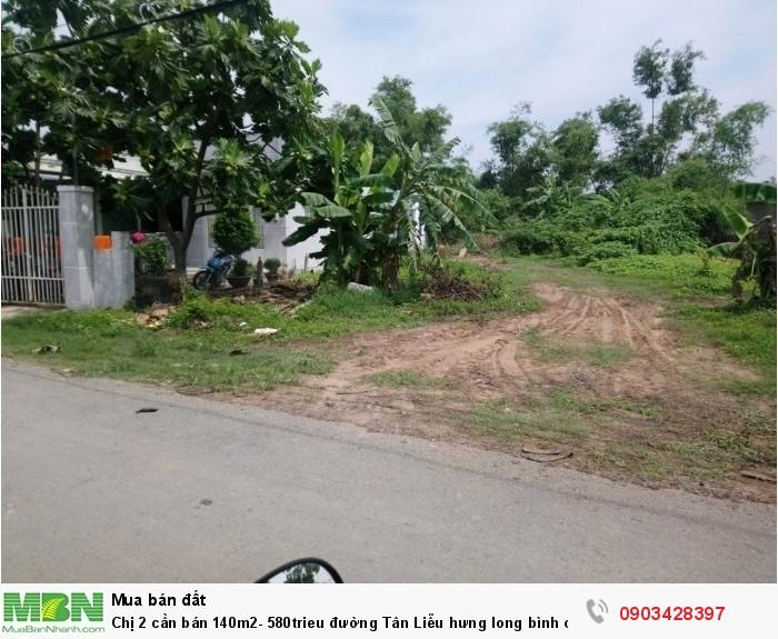 Chị 2 cần bán 140m2, đường Tân Liễu Hưng Long Bình Chánh