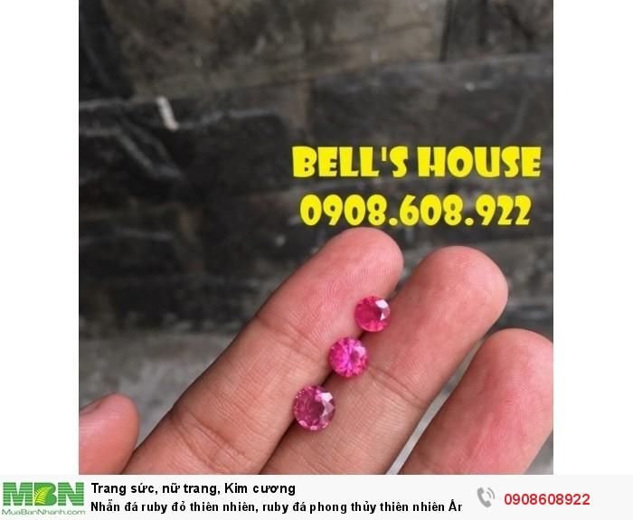 Nhẫn đá ruby đỏ thiên nhiên, ruby đá phong thủy thiên nhiên Ấn Độ, Bells House TPHCM,0
