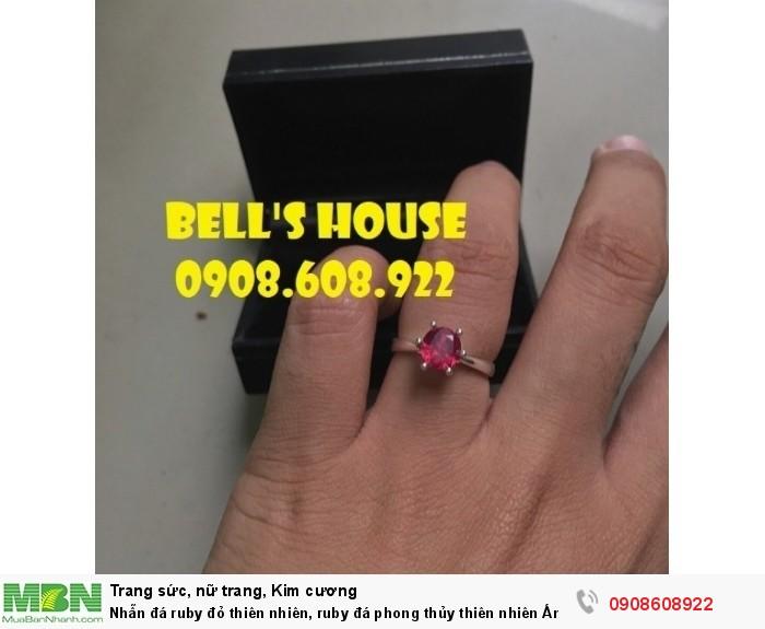 Nhẫn đá ruby đỏ thiên nhiên, ruby đá phong thủy thiên nhiên Ấn Độ, Bells House TPHCM,3