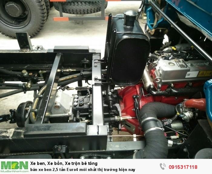 Bán xe Ben 2,5 tấn Euro4 mói nhất thị trường hiện nay