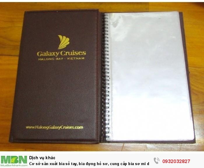 Cơ sở sản xuất bìa sổ tay, bìa đựng hồ sơ, cung cấp bìa sơ mi da, bìa còng giá rẻ,1