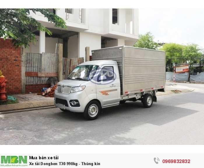 Xe tải Dongben T30 990kg - Thùng kín
