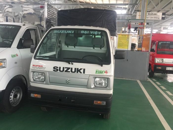 Xe Suzuki truck thùng mui có xe giao ngay, tặng 100% thuế trước bạ và nhiều quà tặng khác 1
