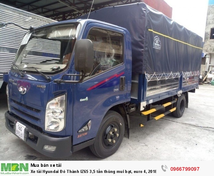 Xe tải Hyundai Đô Thành IZ65 3,5 tấn thùng mui bạt, euro 4, 2018 0