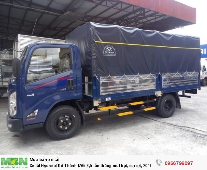 Xe tải Hyundai Đô Thành IZ65 3,5 tấn thùng mui bạt, euro 4, 2018 1