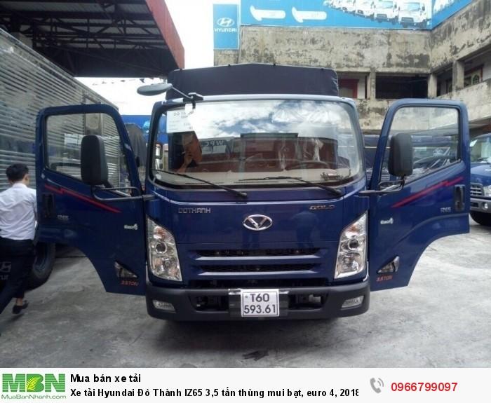 Xe tải Hyundai Đô Thành IZ65 3,5 tấn thùng mui bạt, euro 4, 2018 3