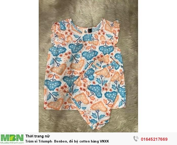 Trùm sỉ Triumph- Bonbon, đồ bộ cotton hàng VNXK1