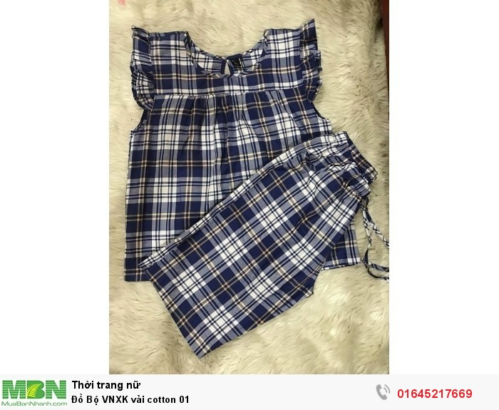 Đồ Bộ lửng  VNXK vải cotton  010