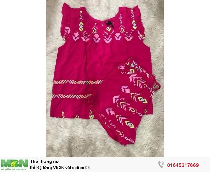 Đồ Bộ lửng VNXK vải cotton  040