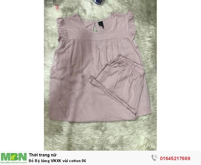 Đồ Bộ lửng VNXK vải cotton  060