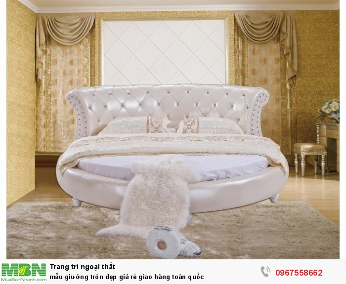 giường tròn màu trắng7