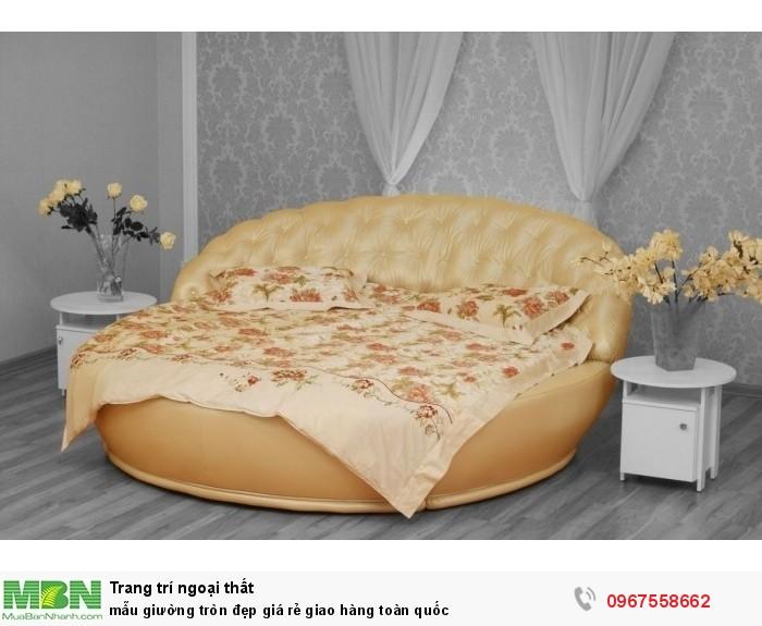 giường tròn bọc nệm8