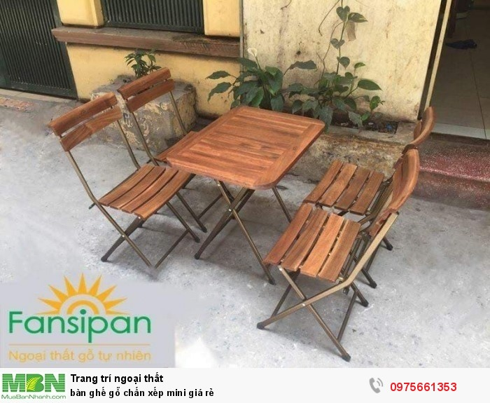 Bàn ghế gỗ chấn xếp mini giá rẻ