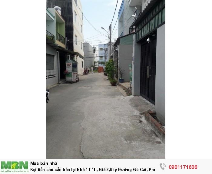 Kẹt tiền chủ cần bán lại Nhà 1T 1L, Đường Gò Cát, Phú Hữu.