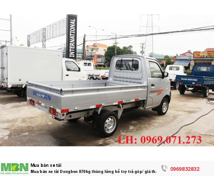 Mua bán xe tải Dongben 870kg thùng lửng hỗ trợ trả góp/ giá thành tốt/100% xe mới