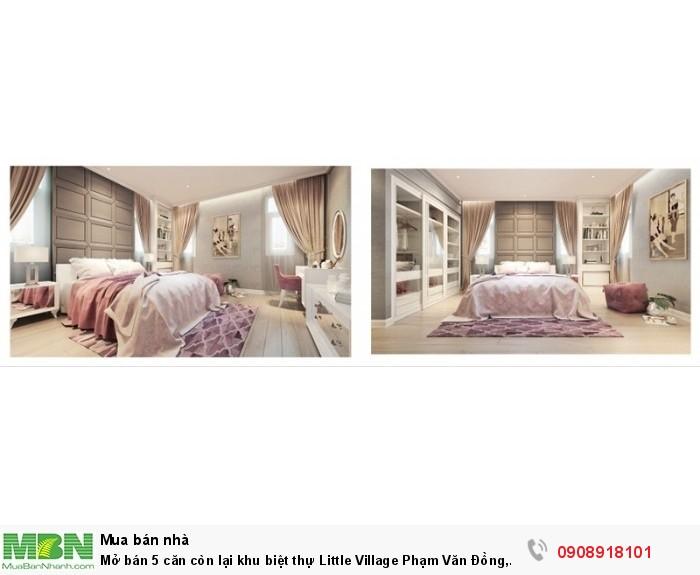 Mở bán 5 căn còn lại khu biệt thự Little Village Phạm Văn Đồng, DT 110m2,5 tầng