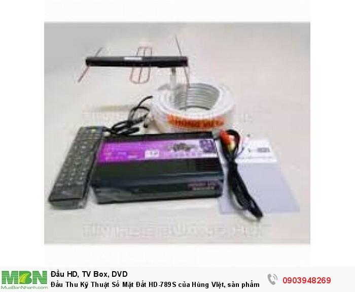 Trọn bộ gồm có: Đầu thu DVB T2 Hùng Việt 789S, hướng dẫn sử dụng, dây HDMI, dây AV, 2 pin 3A, adapter 12V/ 1A.