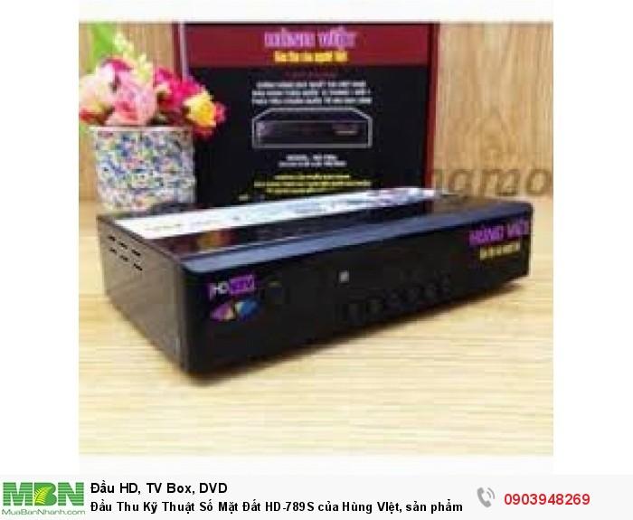 Đầu Thu Kỹ Thuật Số Mặt Đất HD-789S của Hùng VIệt, giá rẻ, chất lượng cao, hình ảnh đẹp