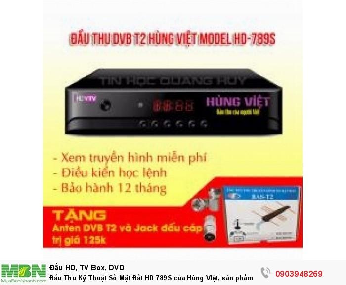 Đầu thu KTS DVB T2 HD 789S của Hùng Việt được thiết kế vẻ ngoài nhỏ gọn, đẹp mắt