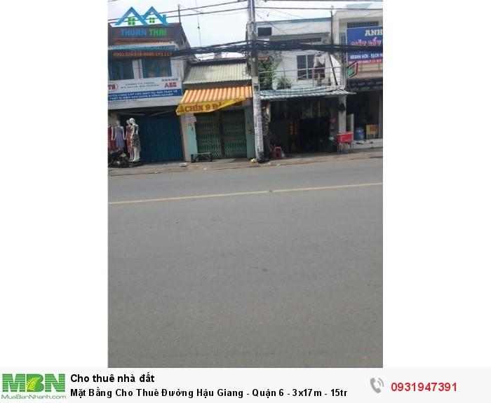 Mặt Bằng Cho Thuê Đường Hậu Giang - Quận 6 - 3x17m