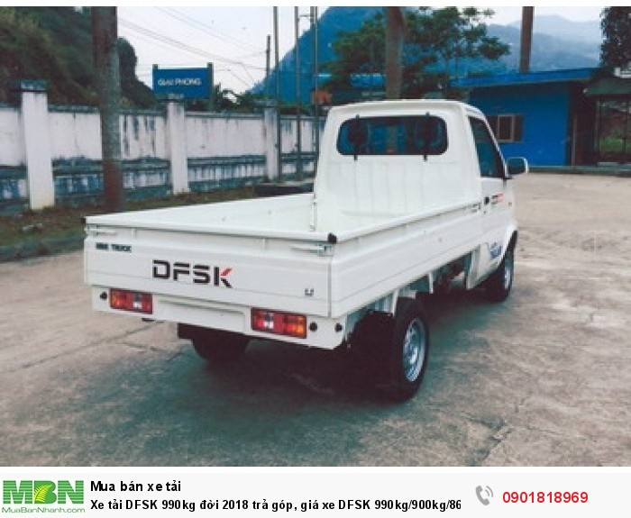 Xe tải DFSK 990kg đời 2018 trả góp, giá xe DFSK 990kg/900kg/860kg tấn trả góp