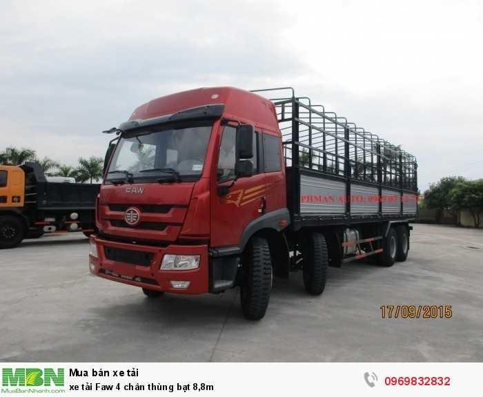 xe tải Faw 4 chân thùng bạt 8,8m