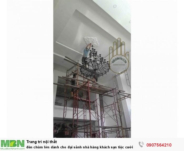 Đèn chùm lớn dành cho đại sảnh nhà hàng khách sạn tiệc cưới