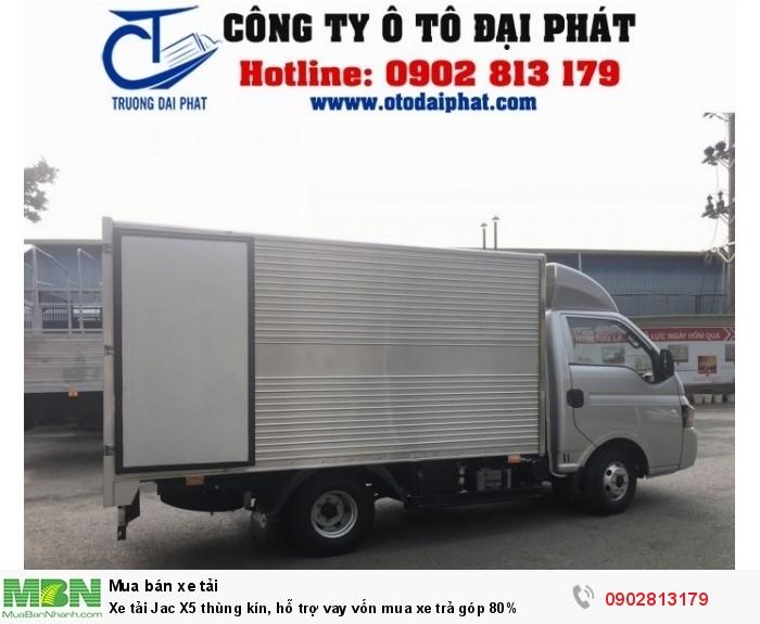 Xe tải Jac X5 thùng kín, hỗ trợ vay vốn mua xe trả góp 80% 1