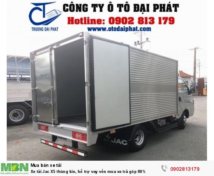 Xe tải Jac X5 thùng kín, hỗ trợ vay vốn mua xe trả góp 80% 2
